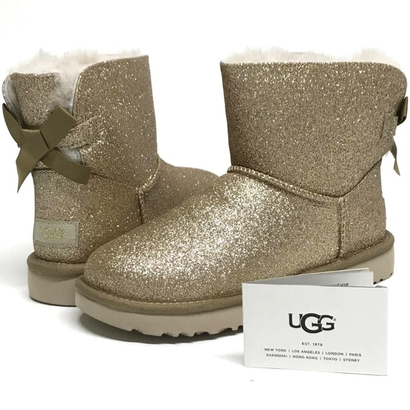 3fadd0bb7e8 UGG Mini Bailey BOW SPARKLE Boots MANY SIZES! NIB